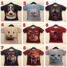 2015 New Sale Men T Shirts Fashion 3d Wolf Hamster Duzui Monkey Headset Wolf Fangs Tiger Printing T Shirts For Men From Just_trust, $9.73 | Dhgate.Com