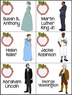 wonderful FREE game to learn about famous figures:  compare historical figures to modern day community helpers