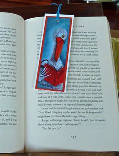 Bookmark -hand made-Pelican-Australian Animals- animals reading books-Paper Bookmark-Cute animals-Great gift by ArtiSueBee on Etsy