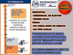 En construrama Che-che tenemos el crédito de cemex Patrimonio Hoy que se ajusta a tus posibilidades económicas!! llámanos :)