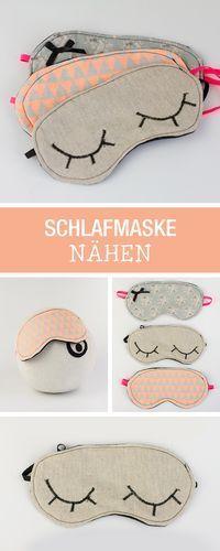 Einfach Nähanleitung: Schlafmaske nähen / last minute gift idea: sewing tutorial for a sleeping mask via DaWanda.com