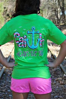 Faithful Girl Tee - Lime $19.99 #SouthernFriedChics