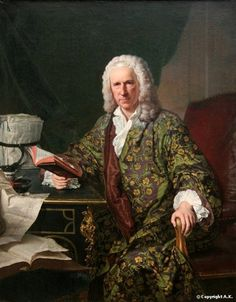 Portrait de Marc de Villiers, secrétaire du roi Louis XV, avec un livre, 1747 Jacques-André-Joseph Aved
