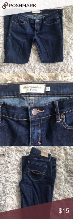 Abercrombie & Fitch dark wash stretch straight 2R Super cute ERIN jean by A and F - dark wash- stretch- straight cut- size 2R Abercrombie & Fitch Jeans Straight Leg