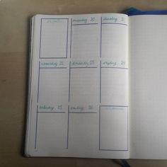 Deze week probeer ik een nieuwe vorm van weekkalender in mijn #bulletjournal Ik ben benieuwd of ik meer overzicht krijg.