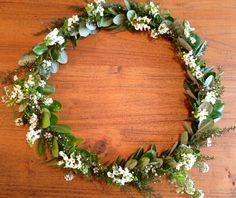 Foliage wreath created from my Autumn garden #wreath #christmas #rustic #foliage #flowers #hanging #flowercrown #gardenwedding #spring #summer #bohemian
