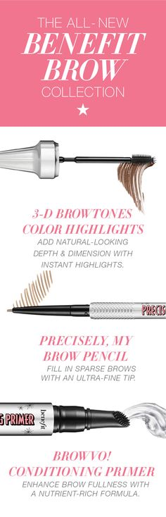Brow WOW! Become your very own eyebrow expert with the nine new products in the Benefit Brow Collection. Whether your arches are bushy or barely there, there's a tool to totally transform your look. Find your favorites at Macy's.