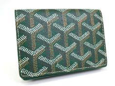 #eLADY global accepts returns within 14 days, no matter what the reason! #Goyard Card Case/Business card case Canvas/Leather Green(BF062648)