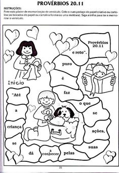 """Minha Herança"": * ""Você já considerou as razões para se memorizar a Palavra de Deus?"" Bible Stories, Stories For Kids, Coloring For Kids, Coloring Pages, Cute Bibles, Child Sponsorship, Bible Drawing, Bible Lessons For Kids, Bible Crafts"