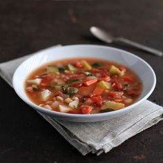 Carrot, Squash, and Jerusalem-Artichoke Soup with White Beans Recipe - I substituted turnips and parsnips for the Jerusalem artichokes Wine Recipes, Soup Recipes, Cooking Recipes, Healthy Recipes, Healthy Soups, Recipies, Vegetarian Soups, Carrot Recipes, Vegetarian Cooking