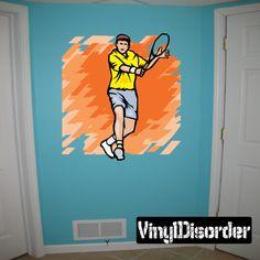 Tennis Wall Decal - Vinyl Sticker - Car Sticker - Die Cut Sticker - SMcolor003