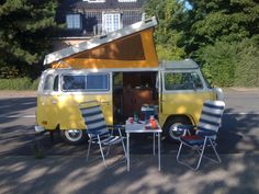 VW Dormobile, Westfalia, Autocamper, Campeur  This one was built in Germany, exported to the States, reimported to Germany, purchased by some Danes living in Germany. What a live at the age of 38. Its even had a nip tuck and general restore.