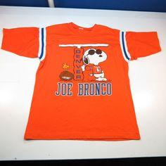4535dba04 Vtg 1971 joe bronco snoopy woodstock nfl denver broncos football jersey  shirt l