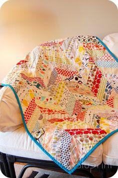 chevron quilt ~ great colors.
