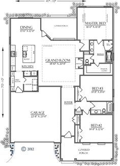 Bungalow Country Craftsman Southern House Plan 74755 Level One