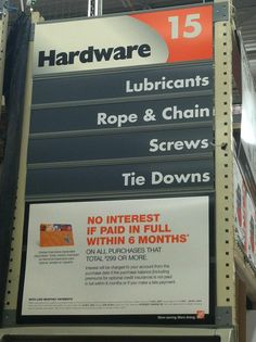 The most terrifying aisle at Home Depot