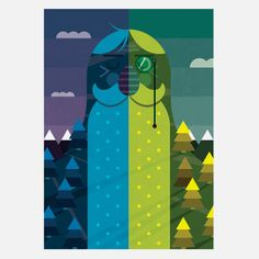 Hello Mr Frank - Be One with Nature A4 Print