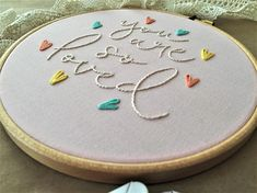 Your place to buy and sell all things handmade Hand Embroidery Projects, Hand Embroidery Flowers, Embroidery Letters, Embroidery Sampler, Baby Embroidery, Embroidery Patterns Free, Embroidery Hoop Art, Hand Embroidery Designs, Embroidery Stitches