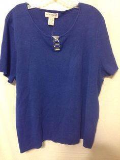NEW W/ TAGS SAG HARBOR Women's 2X Royal Blue Blouse Short Sleeve   Clothing, Shoes & Accessories, Women's Clothing, Tops & Blouses   eBay!