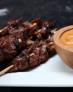 Espetinhos de carne grelhada