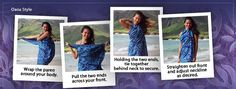 More Ways To Tie A Pareo /Sarong  from 'Black Pearl Designs' #Sarong #Pareo #Holiday