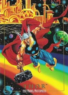 Thor 1992 Marvel Masterpieces <<Os it just me or does Asgard look like Gallifey??