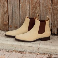 11e651f8 Custom Made Chelsea Boot Classic in Sand Luxe Suede