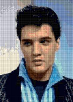 Elvis Presley Portrait Cross stitch pattern PDF - Instant Download! by PenumbraCharts on Etsy
