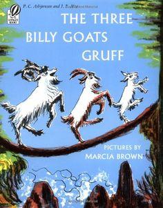 The Three Billy Goats Gruff by P.C. Asbjornsen,http://www.amazon.com/dp/0156901501/ref=cm_sw_r_pi_dp_mr6Esb04J6Y1P1CE