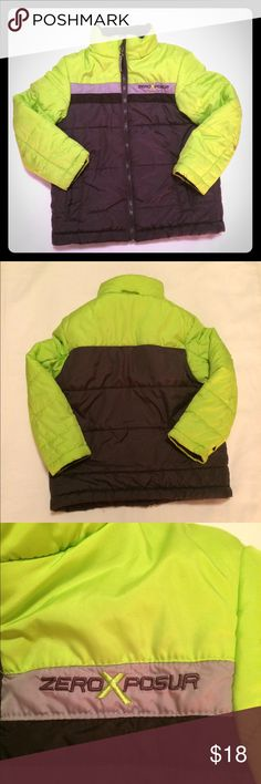 Boys ZeroXposur neon green/black jacket EUC boys ZeroXposur neon green/black winter jacket size 5/6. Worn only a few times and very well taken care of. Lightweight and can be worn on chilly spring days. ZeroXposur Jackets & Coats