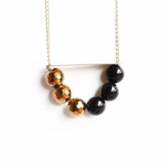 Navy And Gold Gemstone Necklace, $41.25, now featured on Fab.