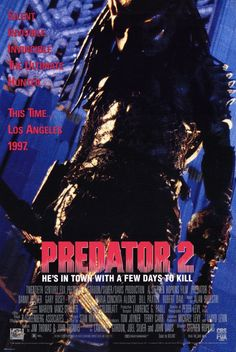 Predator 2 , starring Danny Glover, Gary Busey, Kevin Peter Hall, Rubén Blades. Amidst a territorial gang-war, a sophisticated alien hunter stalks the citizens of Los Angeles and the only man between him and his prey is veteran LAPD officer, Lieutenant Mike Harrigan. #Action #Sci-Fi #Thriller