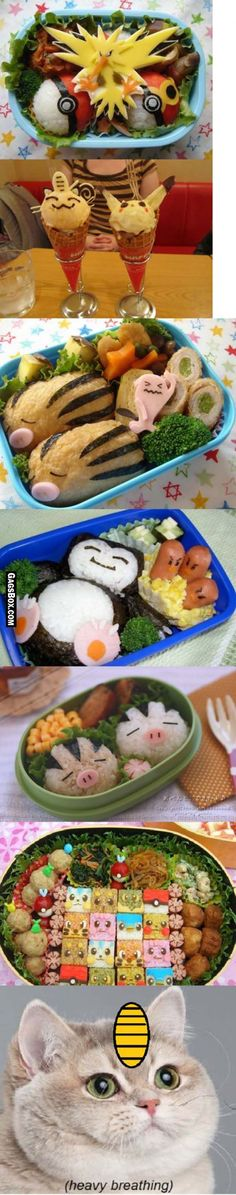 How could you eat these, they're so cute?! Pokemon themed food
