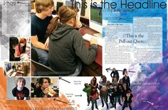 Yearbook page that teaches you about yearbook. (Yelm High School)