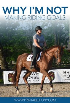 Why I'm Not Making Riding Goals This Year - The Printable Pony Equestrian Boots, Equestrian Outfits, Equestrian Style, Equestrian Fashion, Dressage, Types Of Horses, English Riding, Horse Training, My Horse