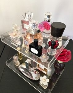 Bella Petite 2 Tier Perfume Storage Holder by MakeupOrganizer