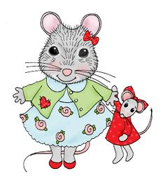 Free Dearie Dolls Digi Stamps: Mousie Girl