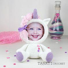 Crochet Pattern of Photo Frame Unicorn Crochet Home, Free Crochet, Easy Crochet, Crochet Baby Blanket Beginner, Crochet Unicorn, Pattern Pictures, Crochet Baby Booties, Sewing A Button, Crochet For Beginners