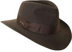Indiana Jones Crushable Wool Felt Fedora Hat from Dorfman Pacific Hat company Mens Western Hats, Gentleman Hat, Felt Cowboy Hats, Indiana Jones, Hats For Men, Women Hats, Mens Fashion, 1950s Fashion, Vintage Fashion