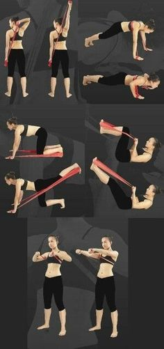 """""""> exercise by elastic band -> für Pilates Sonderangebote klicken! The Effective Pictures We Offer You About pilates workout A quality picture can tell you many things. Pilates Band, Pilates Workout Videos, Pilates Reformer, Pilates Video, Pilates Yoga, Beginner Pilates, Pop Pilates, Fitness Workouts, Band Workouts"""