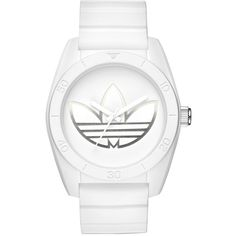 Adidas Originals 'santiago' Polyurethane Strap Watch, 42Mm (999.525 IDR) ❤ liked on Polyvore featuring jewelry, watches, retro watches, adidas originals watches, polish jewelry, dial watches and adidas originals