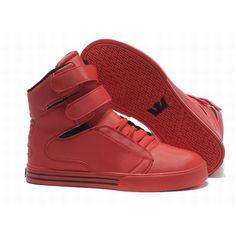 best cheap a4dff 6df3e Nueva Supra españa TK Society Zapatos Hombres High Top Rojo N