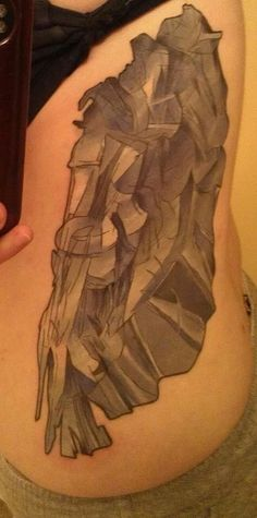 Marcel Duchamp's Nude Descending a Staircase #sidepiece #tattoo #marcelduchamp #cubism