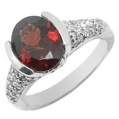 2.5 Carat Garnet Engagement Ring at inexpensive priice