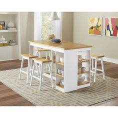Buy Christy Counter Storage Table at FurniturePick store. This casual Christy Counter Dining Room Collection by Progressive Furniture is simple in design and comfortable in many settings. Kitchen Table With Storage, Table Storage, Kitchen Tables, Space Furniture, Dining Room Furniture, Coaster Furniture, Furniture Decor, Kitchen Design, Kitchen Decor