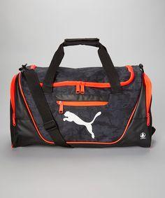 3a66e9d279 PUMA Black   Orange Camo Mesh Duffel Bag