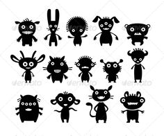Find Aliens Black On White Set stock images in HD and millions of other royalty-free stock photos, illustrations and vectors in the Shutterstock collection. Thousands of new, high-quality pictures added every day. Pet Monsters, Cartoon Monsters, Illustrations, Illustration Art, Scandinavian Style, Game Character, Character Design, Doodle Monster, Aliens