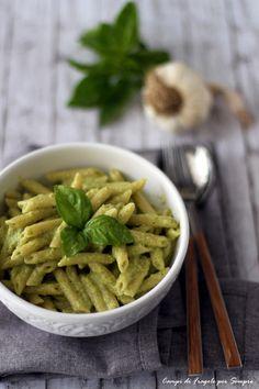 pasta al pesto di zucchine e noci