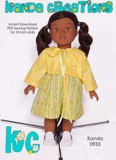 PDF doll pattern american girl doll clothes by AngelaGraceCarriere, $2.59
