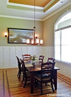Dining Room The Chesnee House Plan #1290